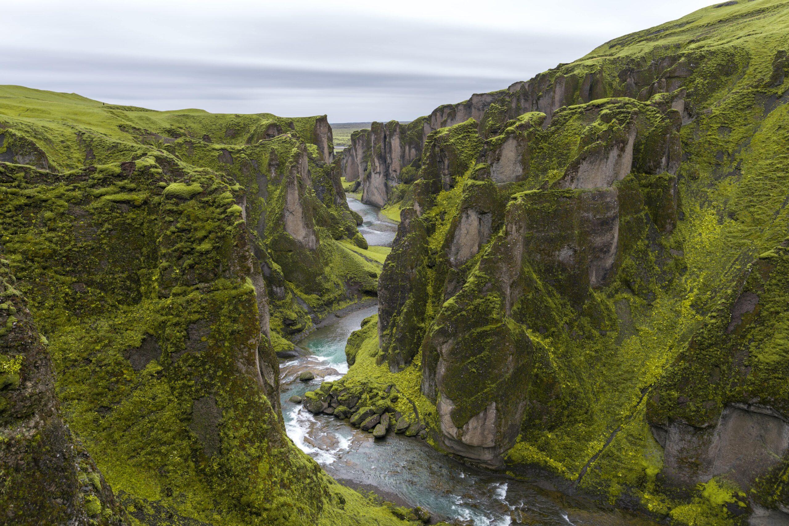 Fjaðrárgljúfur Canyon islanda del sud