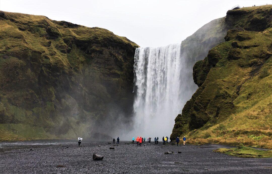 Islanda cascata Skógafoss