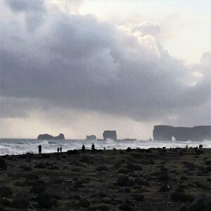 Islanda spiaggia Reynisfjara faraglioni