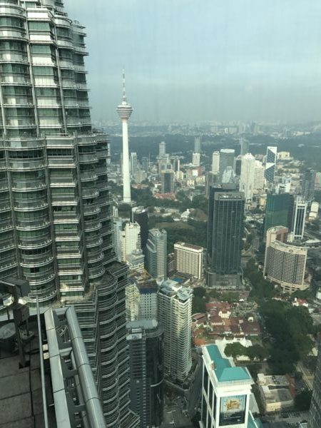 Petronas Twin Towers vista dall'86esimo piano