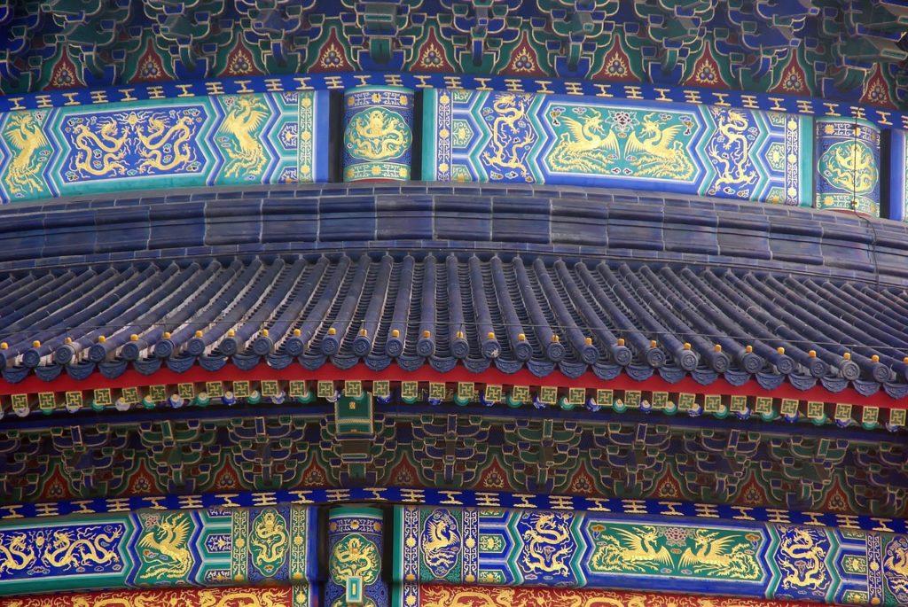 Tempio del cielo dettaglio delle decorazioni