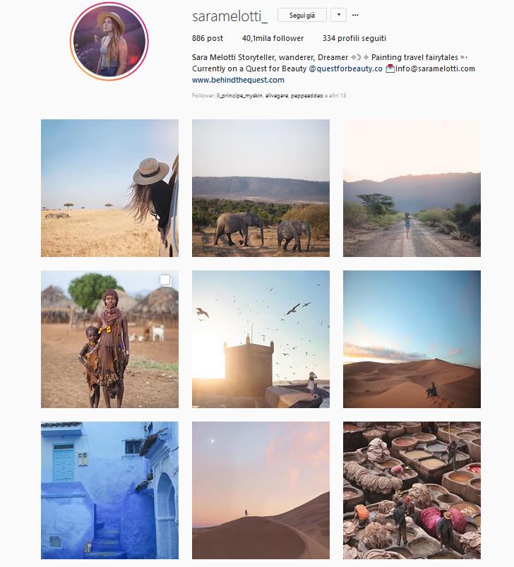 instagram sara melotti travel blogger