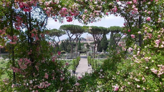 Giardino delle rose roma apertura annuale - Giardino con rose ...