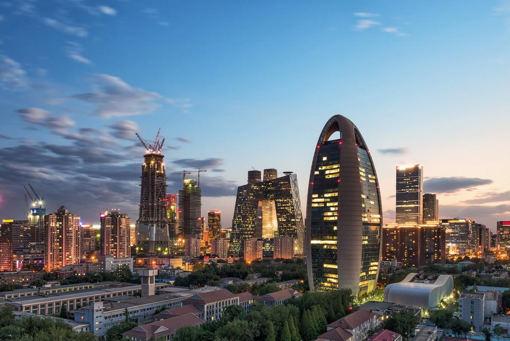 pechino Beijing skyline